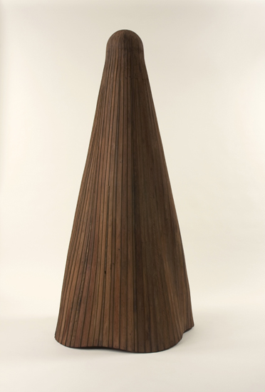 Cris Bruch, Blind, 2010, recycled wood, 85 x 42.5 x 35