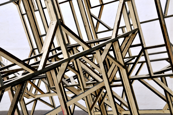 Mirage detail, 2012, wood, 21 x 14 x 10 ft. (destroyed)